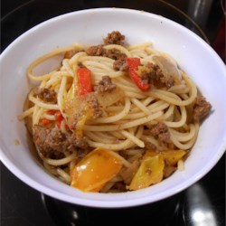 Hamburger Yakisoba (Reduced Yield)