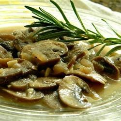 Mushroom Honey Lager Sauce Recipe - A delicately flavored mushroom sauce, bathed in beer with a kiss of honey and a hint of rosemary, makes a great complement for chicken or beef.
