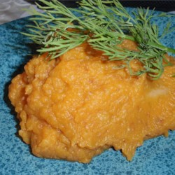 Sweet Potato and Turnip Swirl Recipe - A fresh ginger, margarine, sugar and grated orange peel mixture is swirled into turnips and sweet potatoes which have been mashed together in this recipe from the American Diabetes Association.