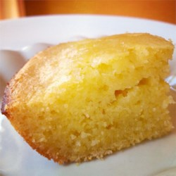 Sweet Cornbread Cake Recipe - Serve this rich, sweet, cakelike cornbread hot from the oven.