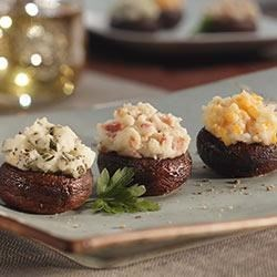 Art's Italian Stuffed Mushrooms Recipe - Art's Italian Potato Stuffed Mushrooms is chock full of our favorite Italian foods including Idahoan's Romano White Cheese Flavored Mashed Potatoes.
