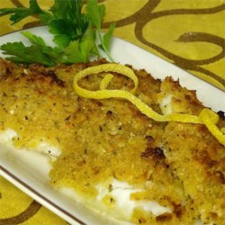 Baked Flounder with Panko & Parmesan