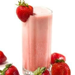 Fresh Strawberry Banana Sunrise Smoothie With Truvia(R) Natural Sweetener Recipe - This smoothie features the popular flavor combination of strawberry and banana in a tangy treat sweetened with Truvia(R) natural sweetener.