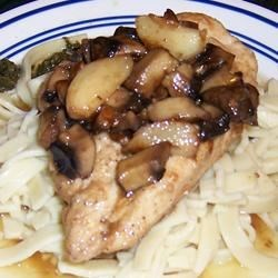 Chicken Breasts with Pasta Noodles