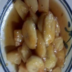 Bananas and pineapple in Tropical sauce