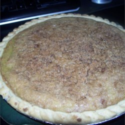 Zucchini Pie with Crumb Topping Recipe - A custard pie with a brown sugar crumb topping uses zucchini.