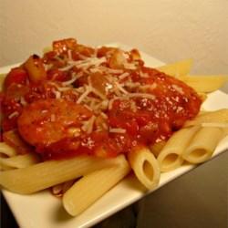 Italian Sausage Over Penne