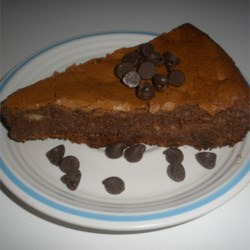Passover Chocolate Cheesecake Recipe - This cheesecake is kosher for Passover with a chocolate macaroon crust.  Great for a Seder dessert.  Very rich.