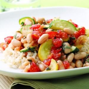 Summer Squash and White Bean Saute