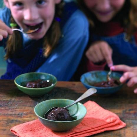 Chocolate-Earl Grey Sorbet