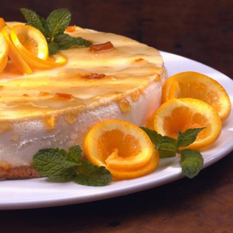 Marmalade-Glazed Orange Cheesecake
