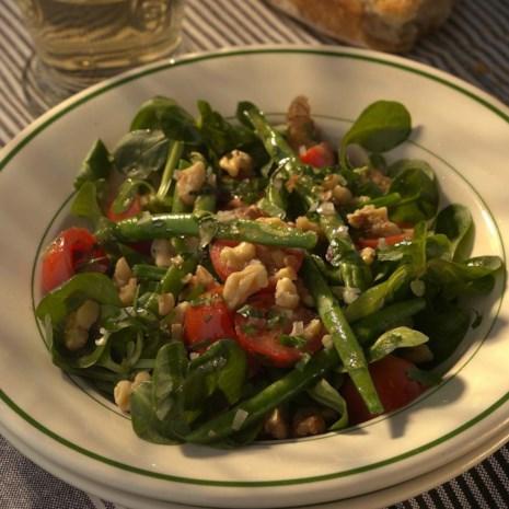 Warm Green Bean Salad with Toasted Walnuts