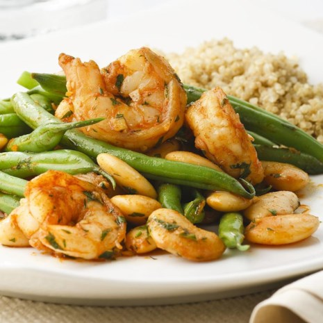 Paprika Shrimp & Green Bean Saute