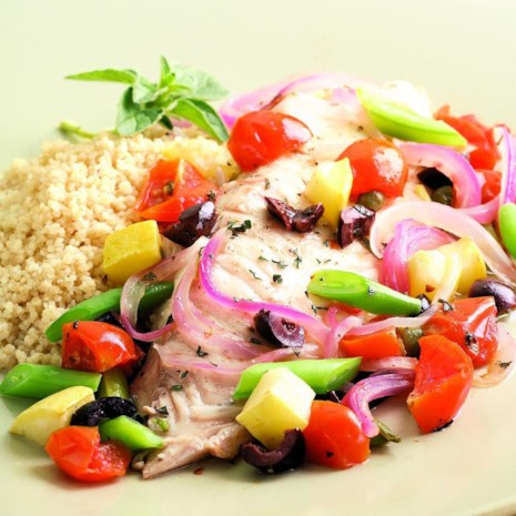 Tilapia & Summer Vegetable Packets