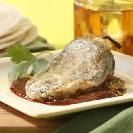 Ranch Chiles Rellenos with Ancho Chile Salsa