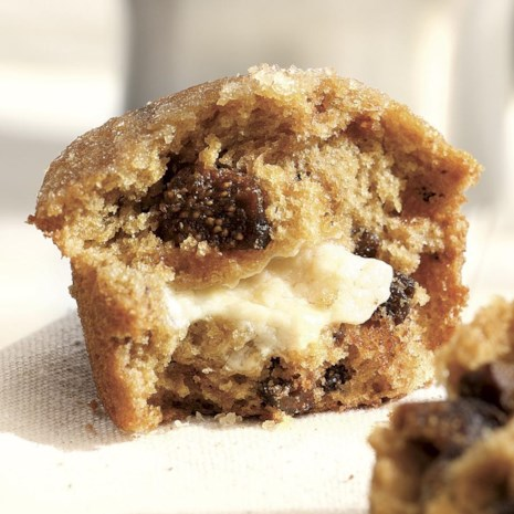 Honey- & Goat Cheese-Filled Fig Muffins