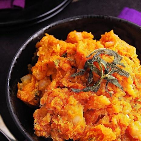 Sweet Potato & Turnip Mash with Sage Butter