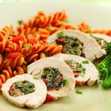 Chicken Florentine Roll-Ups