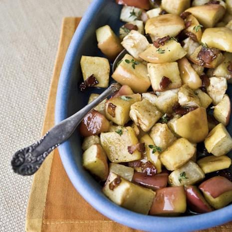 Maple-Bacon Roasted Apples & Celeriac