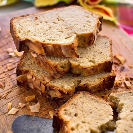 Coconut-Rum Banana Bread