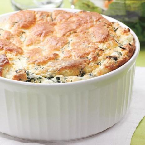Spinach & Feta Souffle