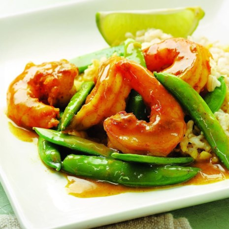 Sugar Snap Pea & Shrimp Curry