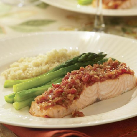 Roast Salmon with Salsa for Two