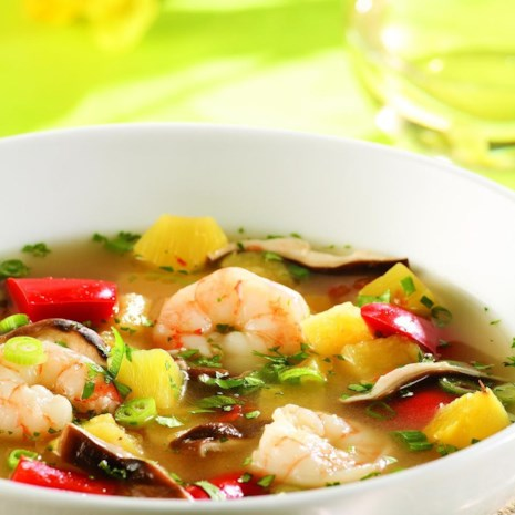 Tom Yum Soup with Pineapple