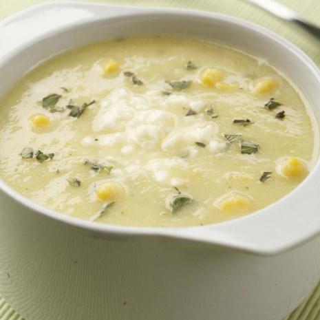 Golden Summer Squash & Corn Soup