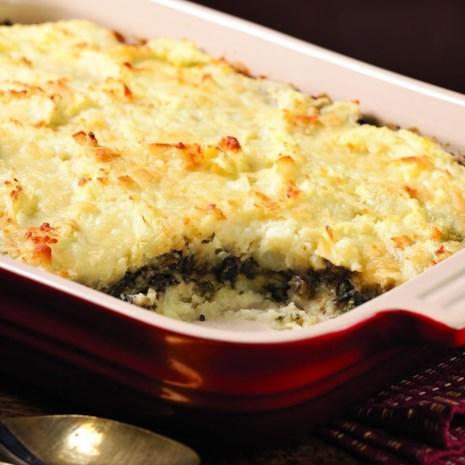 Layered Mashed Potato & Mushroom Casserole
