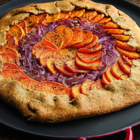 Sweet Potato, Red Onion & Fontina Tart