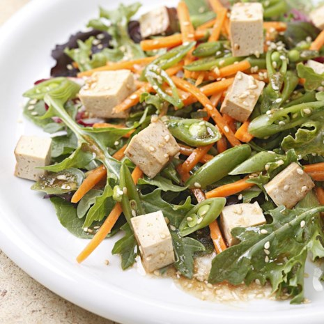 Hoisin-Sesame Salad with Baked Tofu