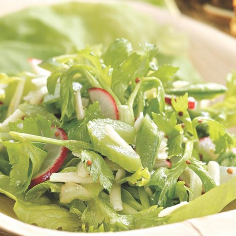 Radish, Celery & Snap Pea Salad