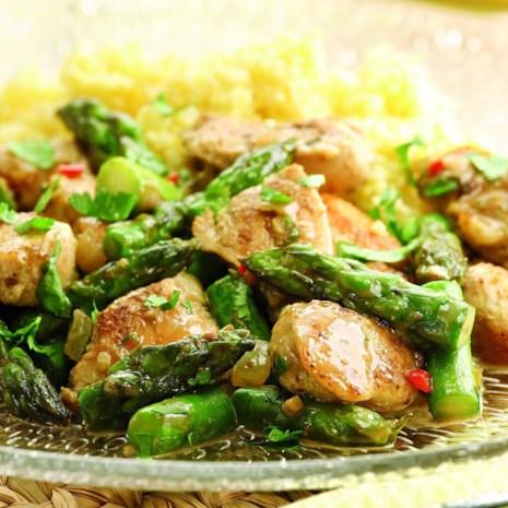 Indian-Spiced Chicken & Asparagus