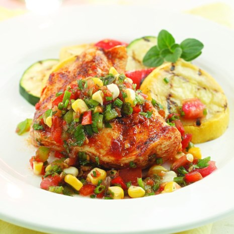Herbed Salsa with Grilled Chicken