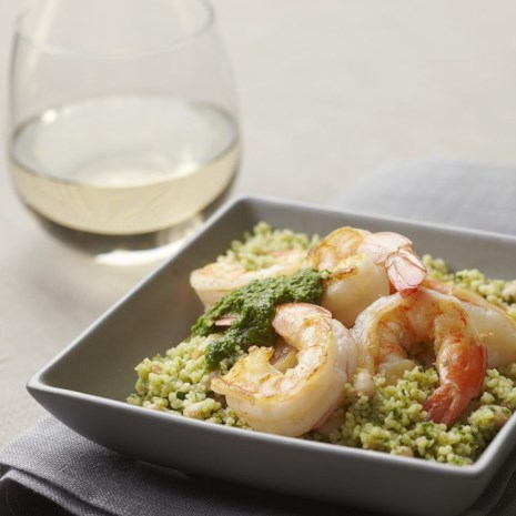 Green Couscous & Shrimp