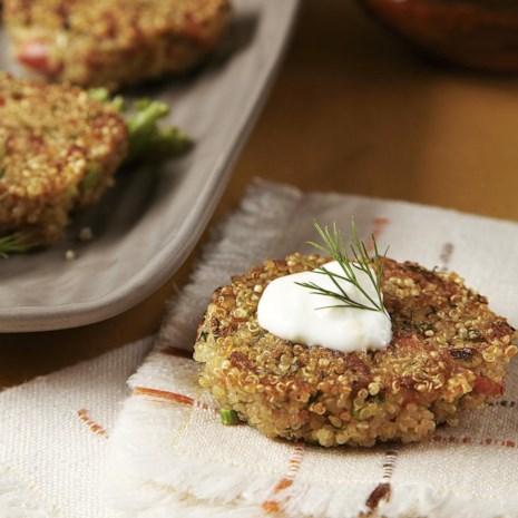 Quinoa Cakes with Smoked Salmon
