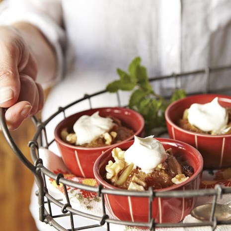 Spiced Apple Bread Pudding