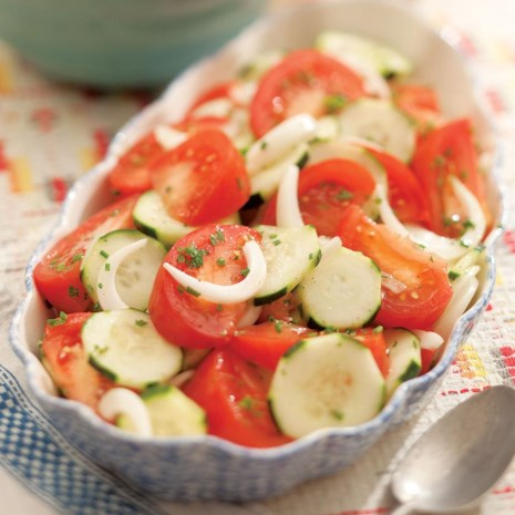 Summer Tomato, Onion & Cucumber Salad