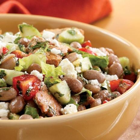 Toasted Pita & Bean Salad