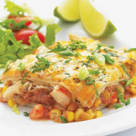 Quick Shrimp Enchilada Bake