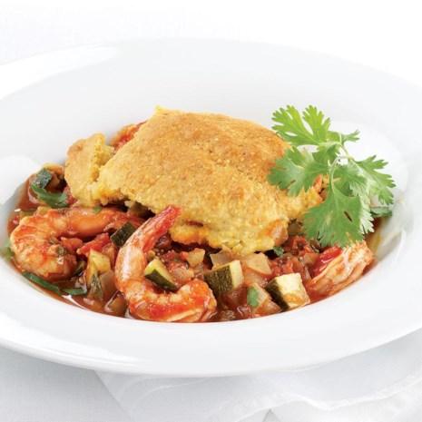 Shrimp Chili Cornbread Casserole