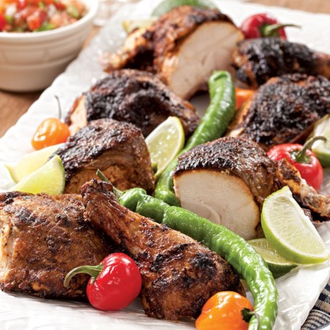 Butterflied Grilled Chicken with a Chile-Lime Rub