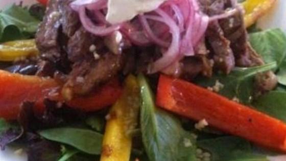 Grilled Fajita Steak Salad With Pickled Pink Onions