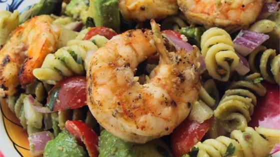 Lime-Shrimp Avocado Pasta Salad