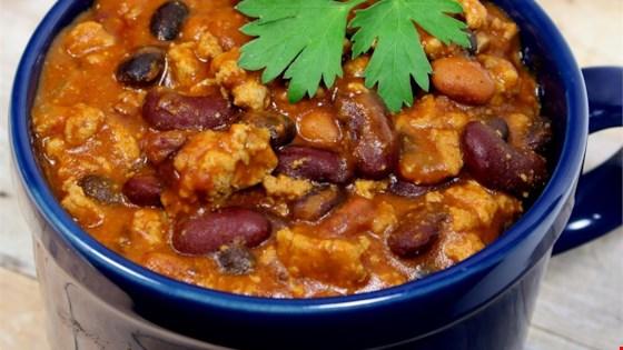 Laura's Quick Slow Cooker Turkey Chili