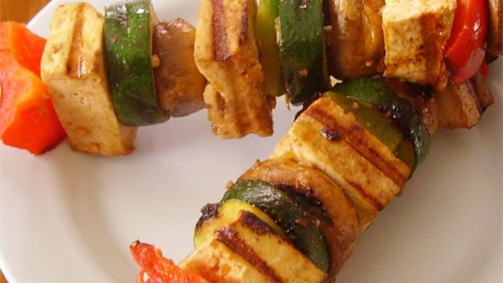 Grilled Tofu Skewers with Sriracha Sauce Recipe - Allrecipes.com