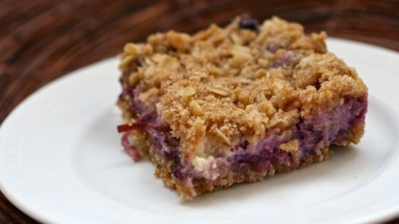 Blueberry Oat Dream Bars