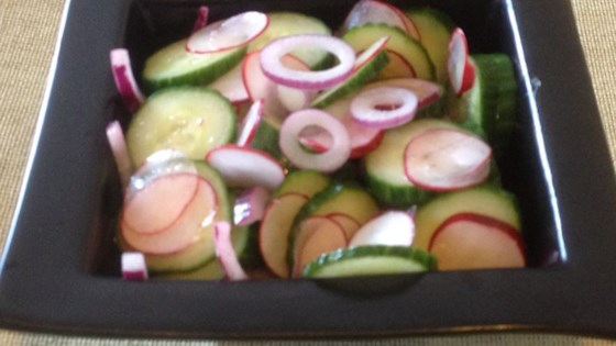 Simple Cucumber and Radish Salad