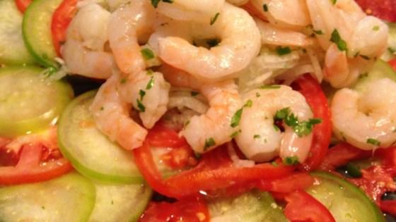 Shrimp, Jicama and Chile Vinegar Salad